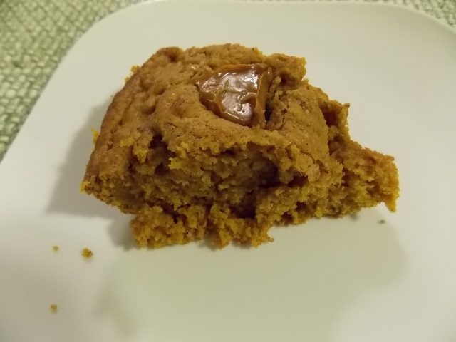 Slice of Pumpkin Skillet Cake
