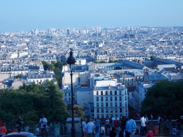 Paris as seen from Sacre Coeur.