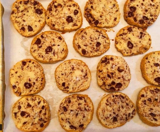 Salted Shortbread Cookies