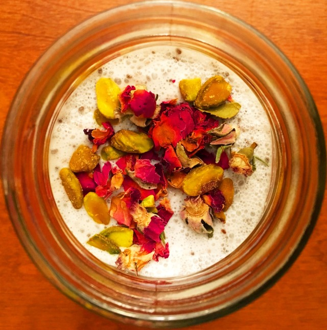 Cardamom Rose Chia Pudding