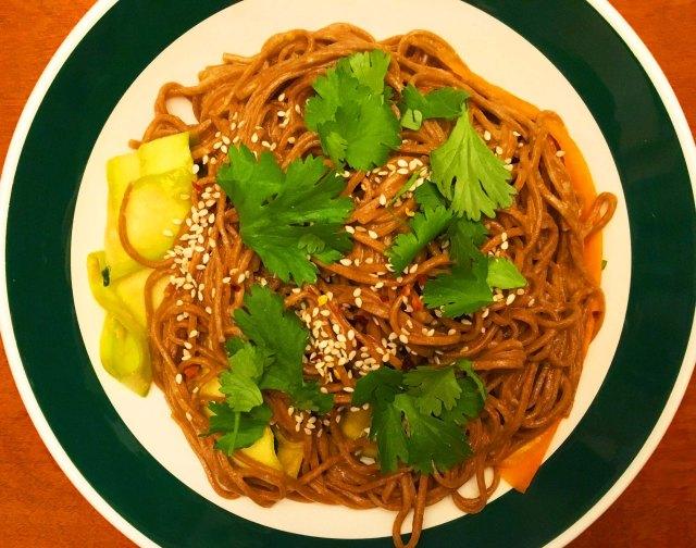 Soba Noodle Tahini Salad