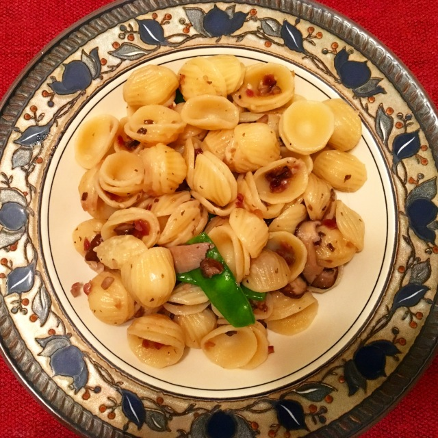 Orecchiette and Mushrooms