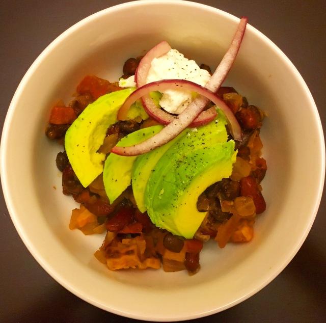 Skillet Vegetarian Chili